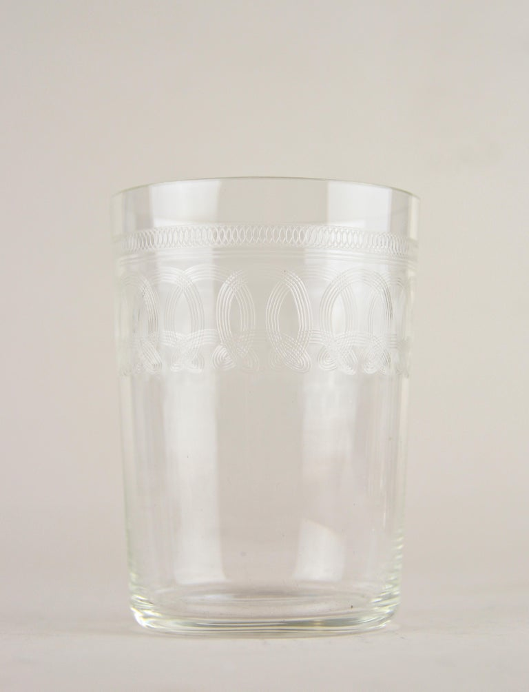 Art Nouveau Glasses on Silvered Tray by Argentor, Vienna, circa 1910 For Sale 4