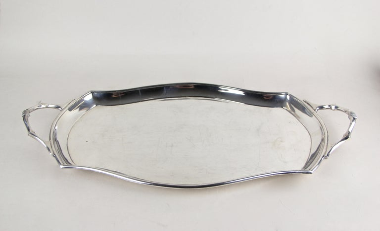 Art Nouveau Glasses on Silvered Tray by Argentor, Vienna, circa 1910 For Sale 6