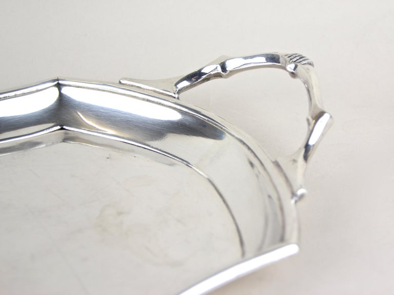Art Nouveau Glasses on Silvered Tray by Argentor, Vienna, circa 1910 For Sale 7