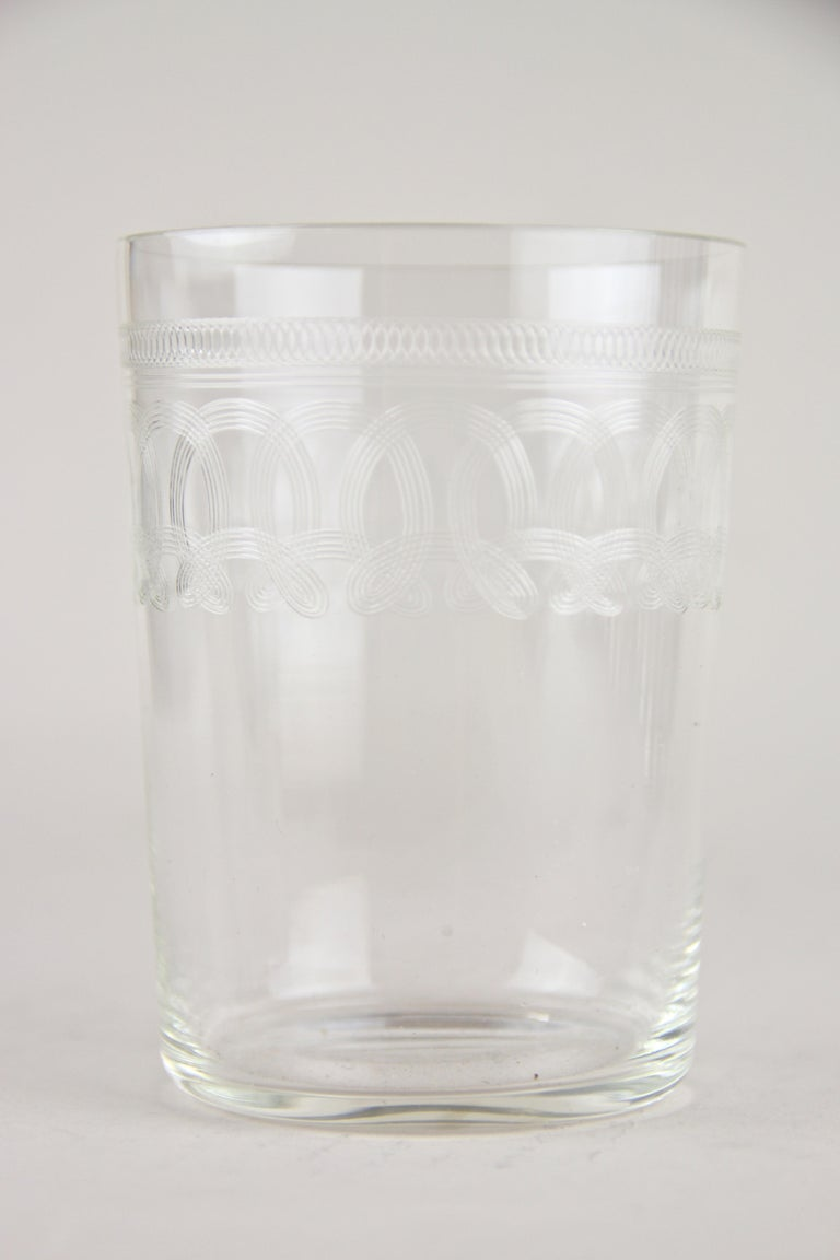 Art Nouveau Glasses on Silvered Tray by Argentor, Vienna, circa 1910 For Sale 3