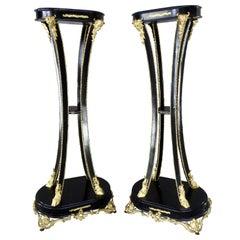 Art Nouveau Goat Feet Pedestals/Fern Stands