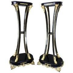 Art Nouveau Goat Feet Pedestals