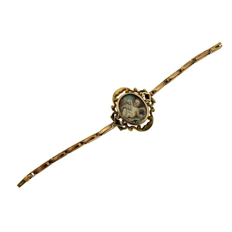 Art Nouveau Gold Frame Bracelet
