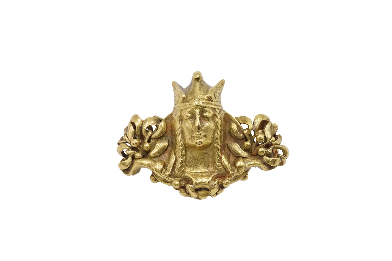 Art Nouveau Gold Valkyrie Brooch by Boucheron Paris