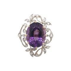 Art Nouveau Grand Amethyst Ring
