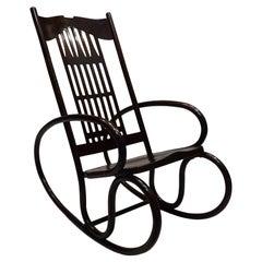 Art Nouveau Gustav Siegel Designed Jacob and Josef Kohn Bentwood Rocking Chair