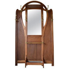 Art Nouveau Hall Stand or Coat Rack in the Style of Serrurier-Bovy, circa 1900
