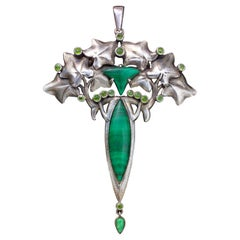Art Nouveau Hedera Pendant in the Manner of Lucien Gaillard