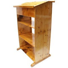 Art Nouveau High Desk / Shelf / Lectern Made of Pine Wood