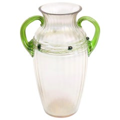 Art Nouveau Iridescent Vase, Wilhelm Kralik Sohn, Czech Republic, 1900-1910