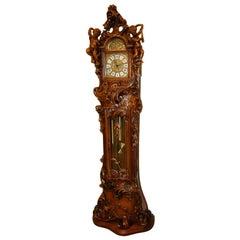 Art Nouveau Italian Baroque Grandfather Clock Carved Cherubs Franz Hermle