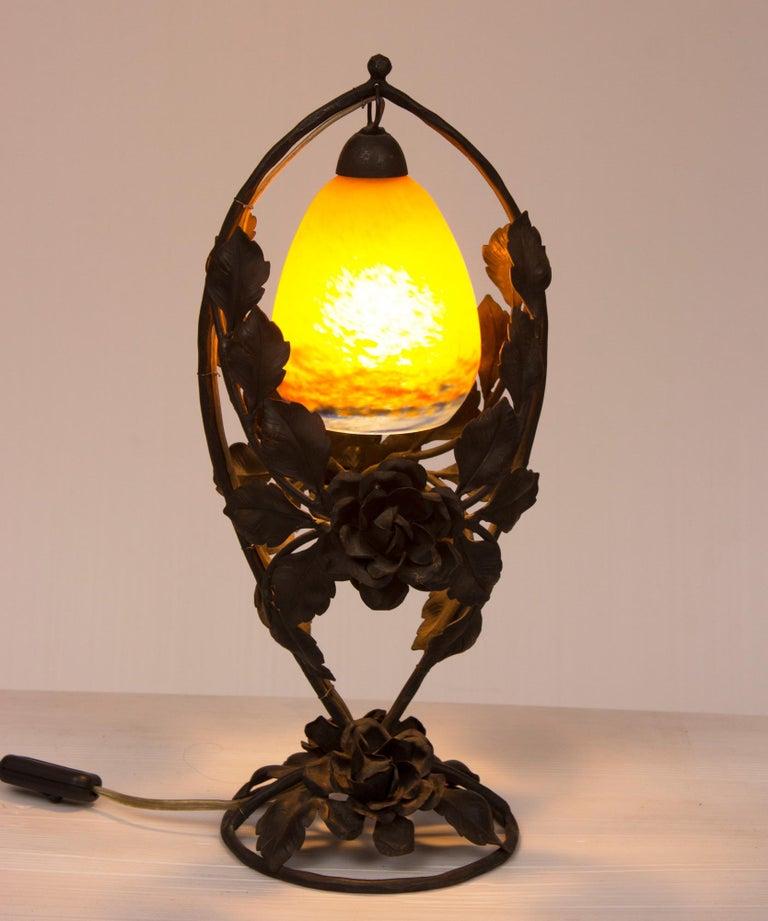 Jugendstil Lampe Von Degue Bei 1stdibs