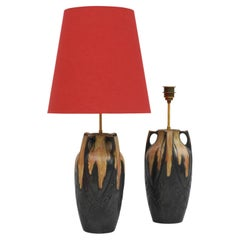 Art Nouveau Lamps by Denbac, France, c1910