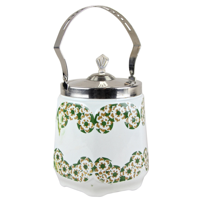 Art Nouveau Lidded Ceramic Jar, Austria, circa 1915
