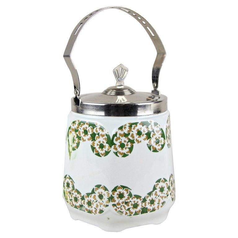 Art Nouveau Lidded Ceramic Jar, Austria, circa 1915 For Sale
