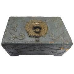Art Nouveau Lions Head Box, Late 19th Century