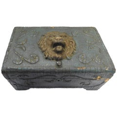 Art Nouveau Lions Head Box, Late 19th Century