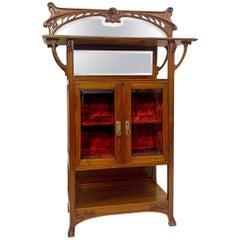 Art Nouveau Mahogany Display Cabinet