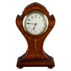 Art Nouveau Mahogany French Balloon Mantel Clock