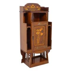 Art Nouveau Mahogany Music Cabinet