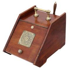 Art Nouveau Mahogany Perdonium Coal Scuttle Box or Cabinet, circa 1910
