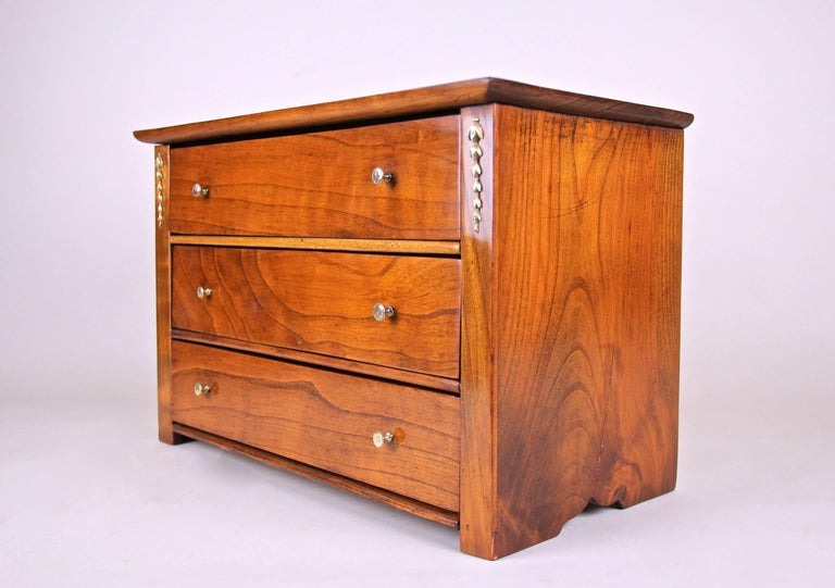 Austrian Art Nouveau Miniature Commode Cherrywood, Austria, circa 1900 For Sale