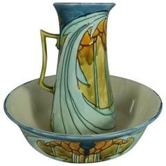 Art Nouveau Minton Secessionist Wash Jug with Bowl No.8