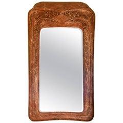 Art Nouveau Mirror in Marble Powder