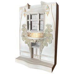 Art Nouveau Model of Building Façade Plaster Architectural Decorative Element LA