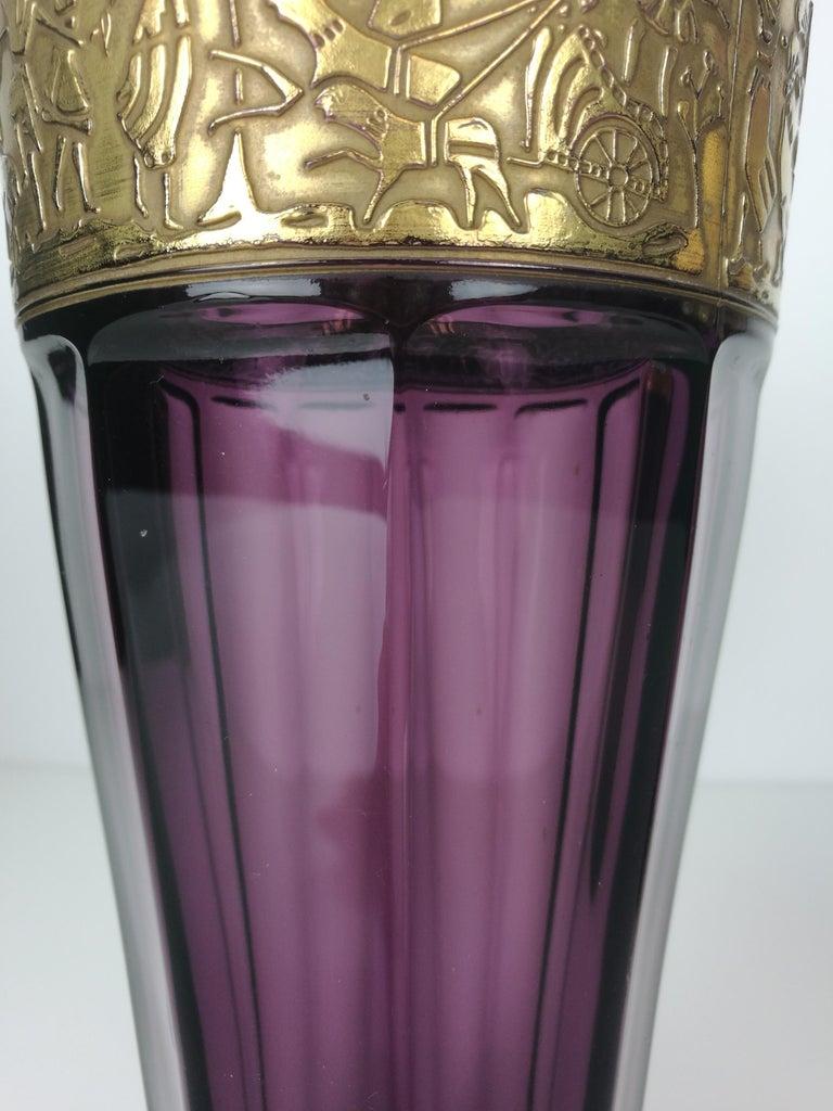 Cut Glass Art Nouveau Moser Amethyst Set, circa 1920