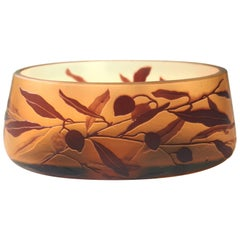 Art Nouveau Bohemian Moser Cameo Glass Vase - 1913