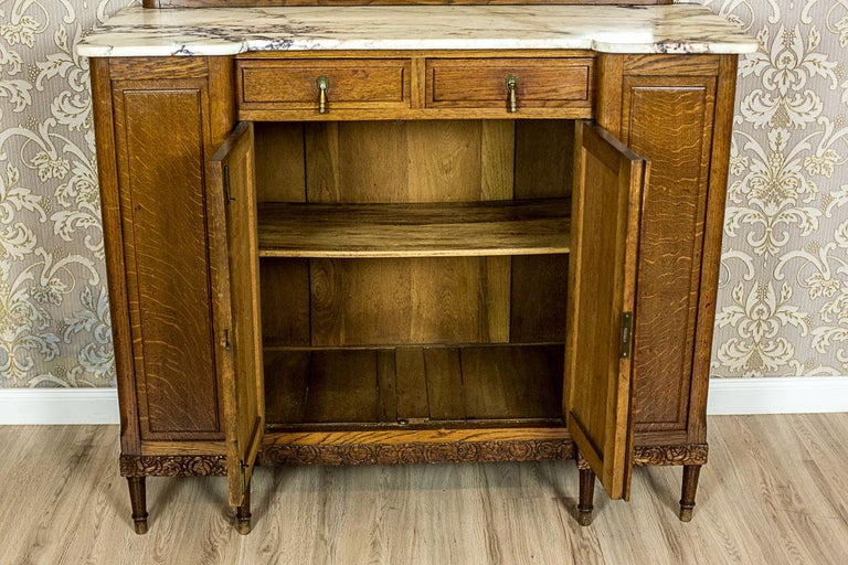 Art Nouveau Oak Sideboard, circa 1910-1920 For Sale 4