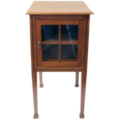Art Nouveau Oak Small Side Cabinet