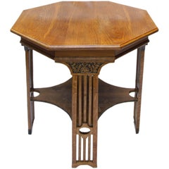 Art Nouveau Oak Small Table