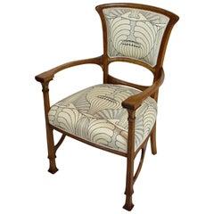 Art Nouveau Oakwood Armchair from Germany