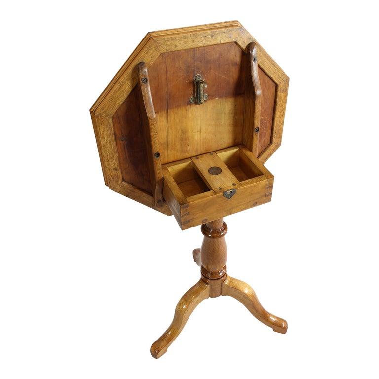 Polished Art Nouveau Oakwood Chess Table For Sale