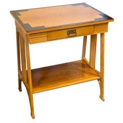 Art Nouveau Oakwood Side Table