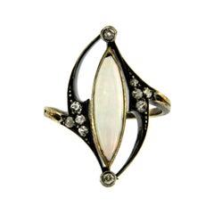 Art Nouveau Opal Diamond Ring