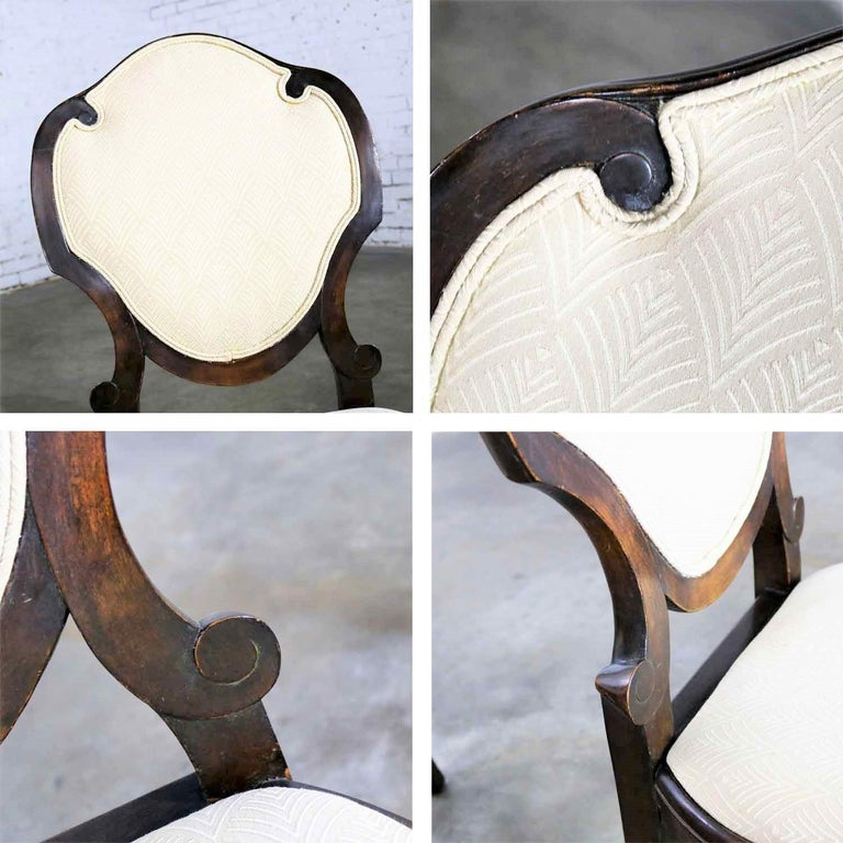 Art Nouveau or Art Deco Shield Back Antique Dining Chairs Set of Four For Sale 6