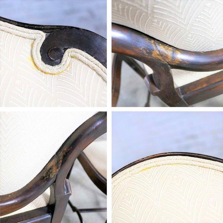 Art Nouveau or Art Deco Shield Back Antique Dining Chairs Set of Four For Sale 8