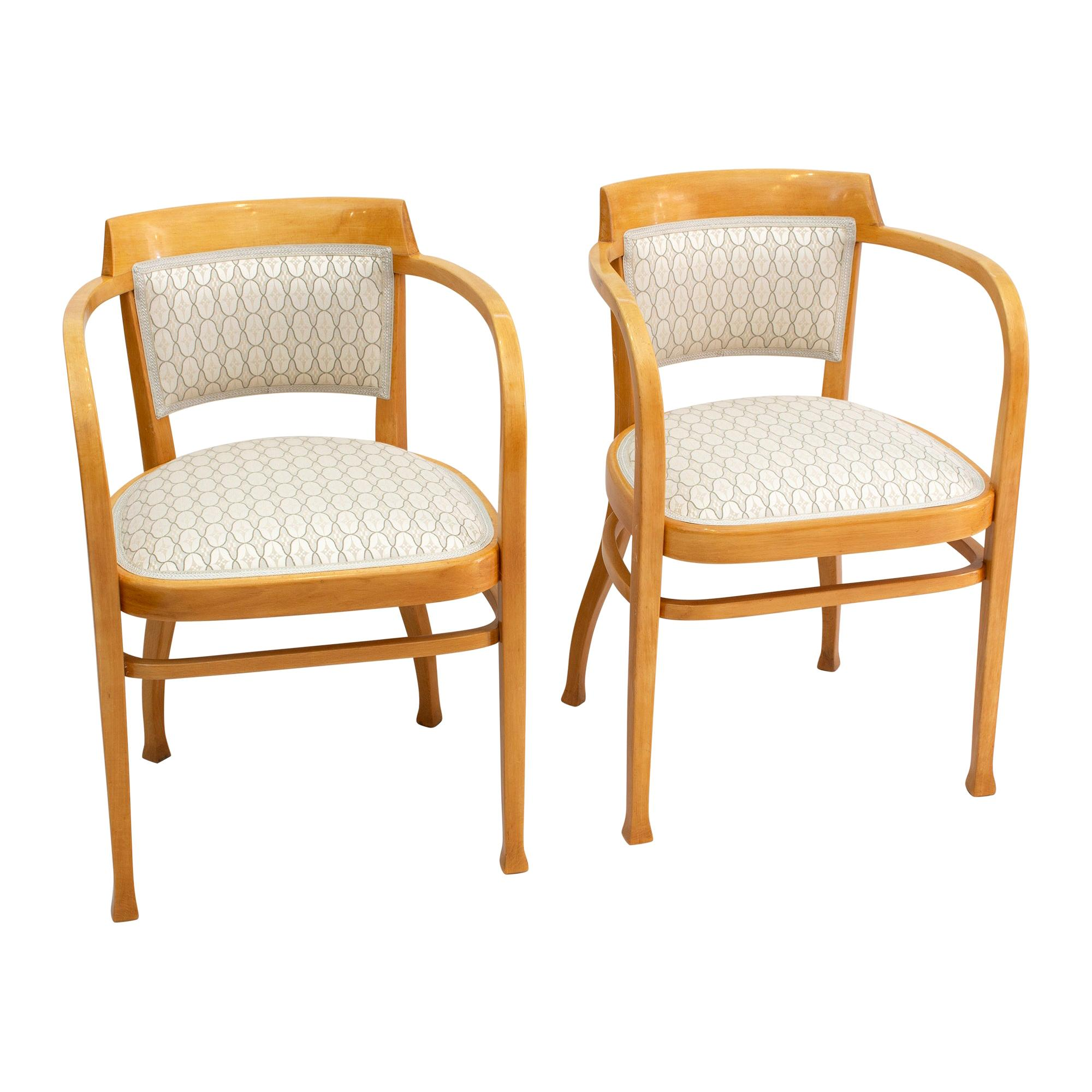 Art Nouveau Pair of Thonet Armchairs