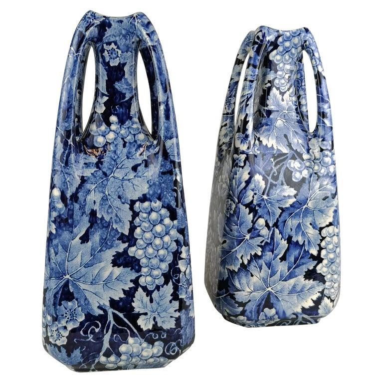 Art Nouveau Pair of Vases Druva Rörstrand Sweden For Sale