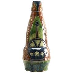 Art Nouveau Period Arts & Crafts Monumental Ceramic Vase Torhout Belgium