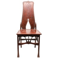 Art Nouveau Period Carved Side Chair