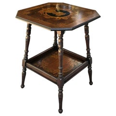 Art Nouveau Period French Marquetry End Table