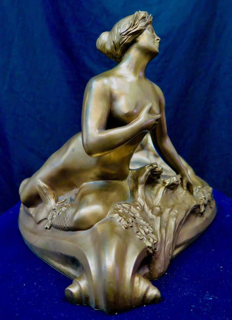 Art Nouveau Period Mythological Bronze Centerpiece For Sale 4