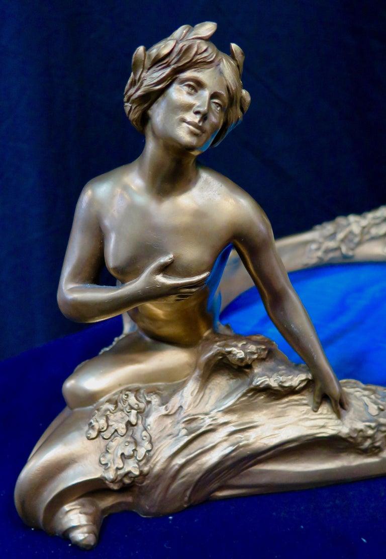 Art Nouveau Period Mythological Bronze Centerpiece For Sale 6