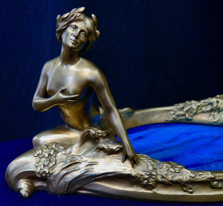 Art Nouveau Period Mythological Bronze Centerpiece For Sale 7