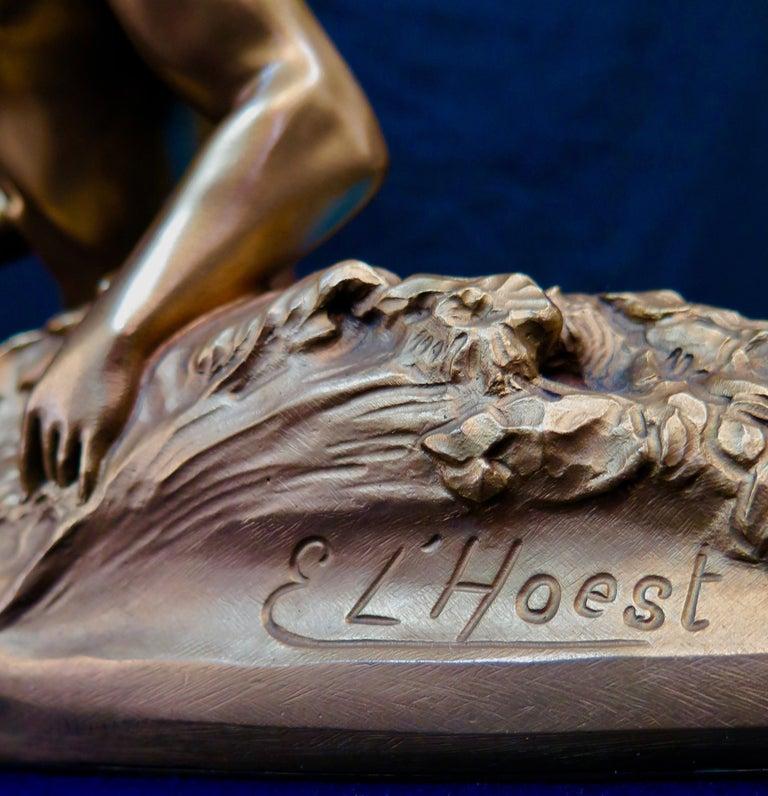 Art Nouveau Period Mythological Bronze Centerpiece For Sale 1