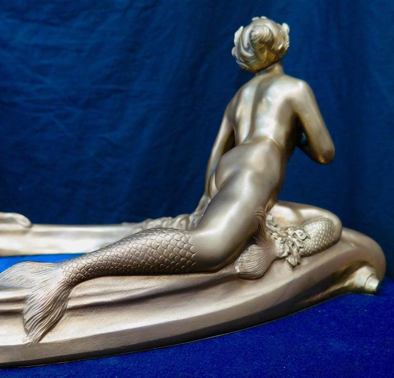 Art Nouveau Period Mythological Bronze Centerpiece For Sale 2